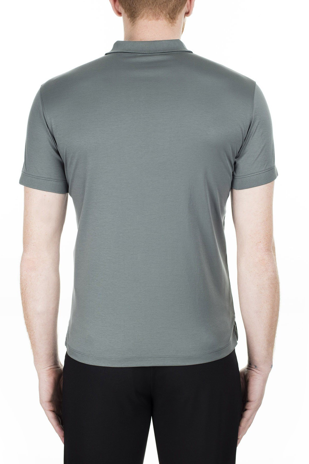 Emporio Armani Regular Fit T Shirt Erkek Polo 3H1F61 1JSTZ 0645 PETROL