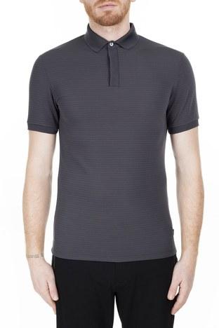 Emporio Armani - Emporio Armani Regular Fit T Shirt Erkek Polo 3H1F71 1JPBZ F652 GRİ