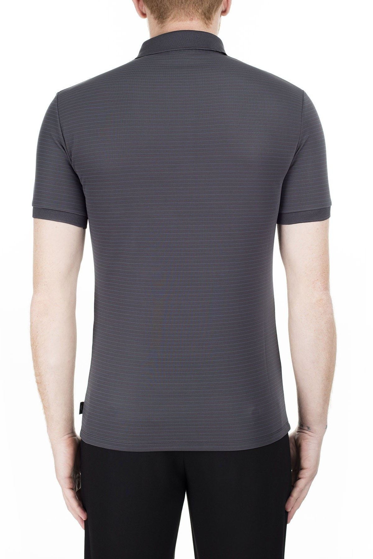 Emporio Armani Regular Fit T Shirt Erkek Polo 3H1F71 1JPBZ F652 GRİ