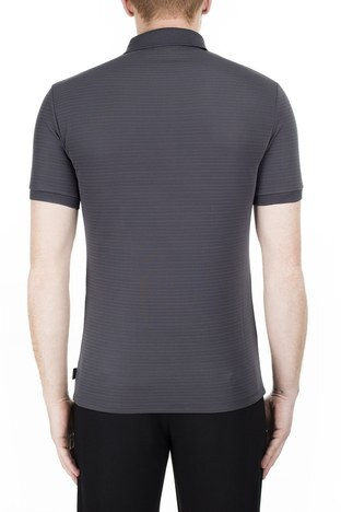 Emporio Armani - Emporio Armani Regular Fit T Shirt Erkek Polo 3H1F71 1JPBZ F652 GRİ (1)