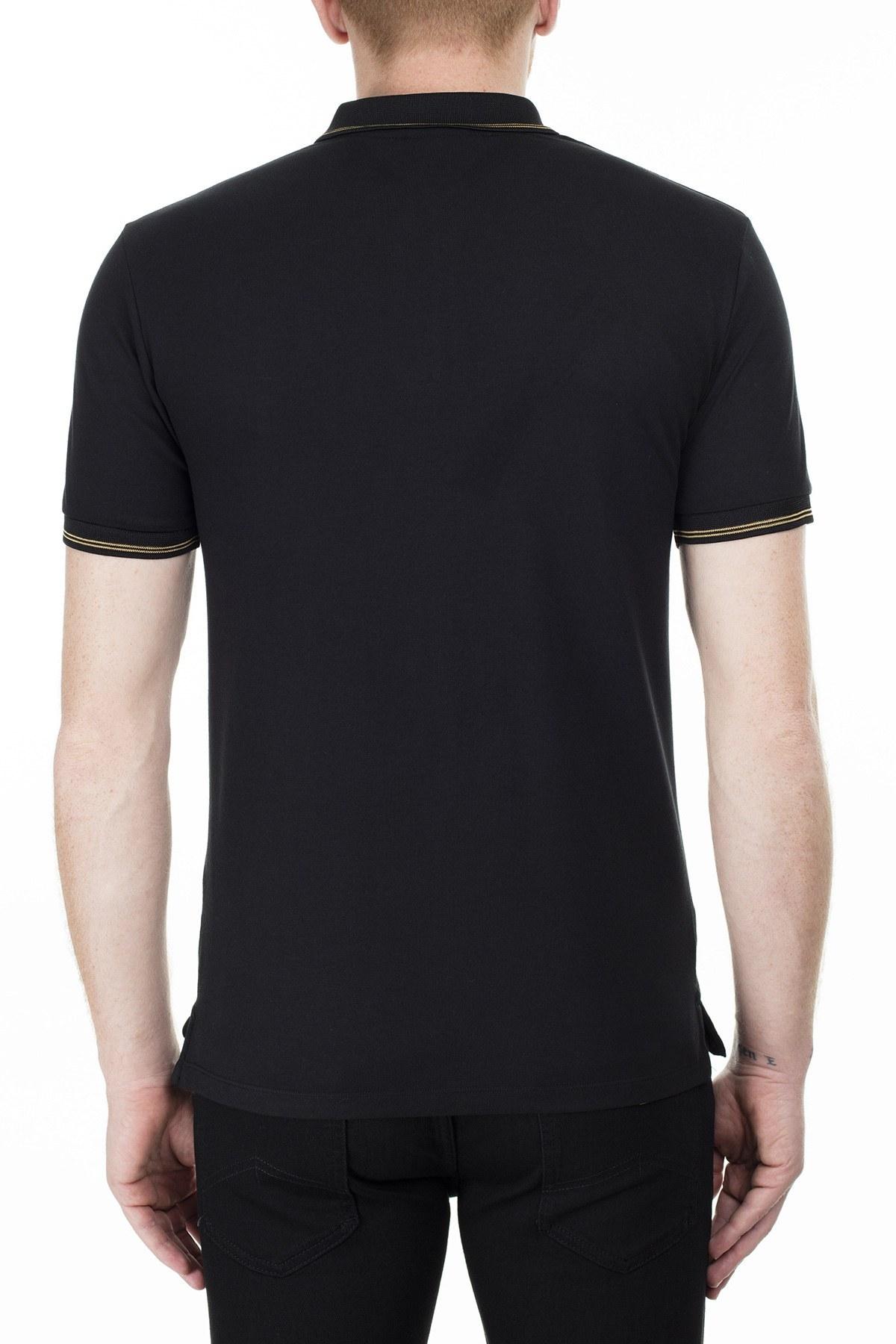 Emporio Armani Regular Fit T Shirt Erkek Polo S 6G1FG0 1J46Z 0999 SİYAH