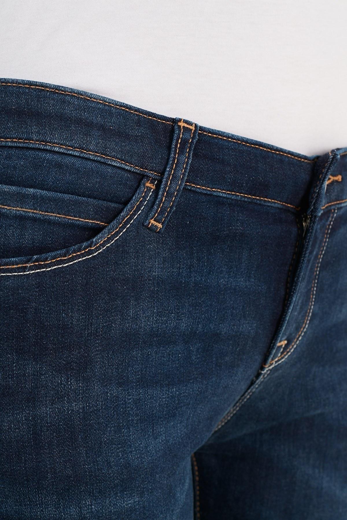 Emporio Armani Skinny Pamuklu J06 Jeans Bayan Kot Pantolon 3K2J06 2DE9Z 0941 LACİVERT