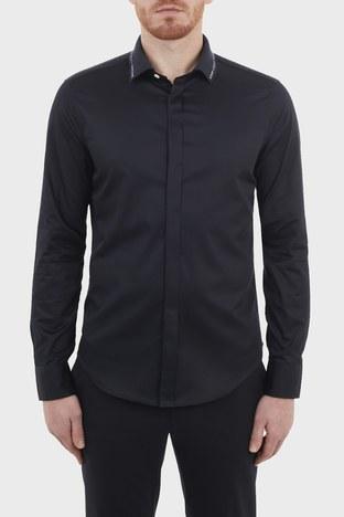 Emporio Armani - Emporio Armani Slim Fit % 100 Pamuk Erkek Gömlek 3K1CP8 1NXRZ 0920 LACİVERT