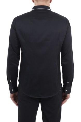Emporio Armani - Emporio Armani Slim Fit % 100 Pamuk Erkek Gömlek 3K1CP8 1NXRZ 0920 LACİVERT (1)