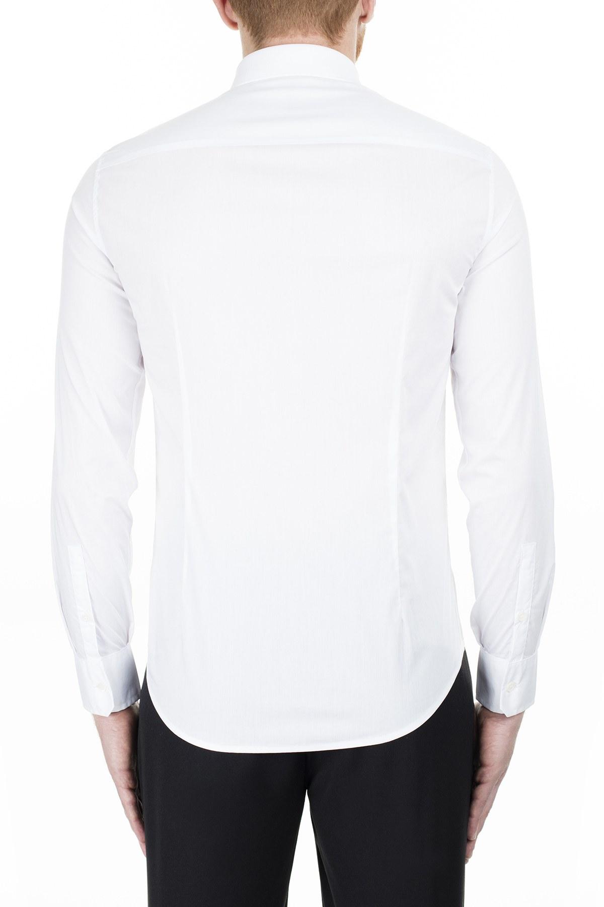 Emporio Armani Slim Fit Erkek Gömlek 3H1CN4 1NHUZ F124 BEYAZ
