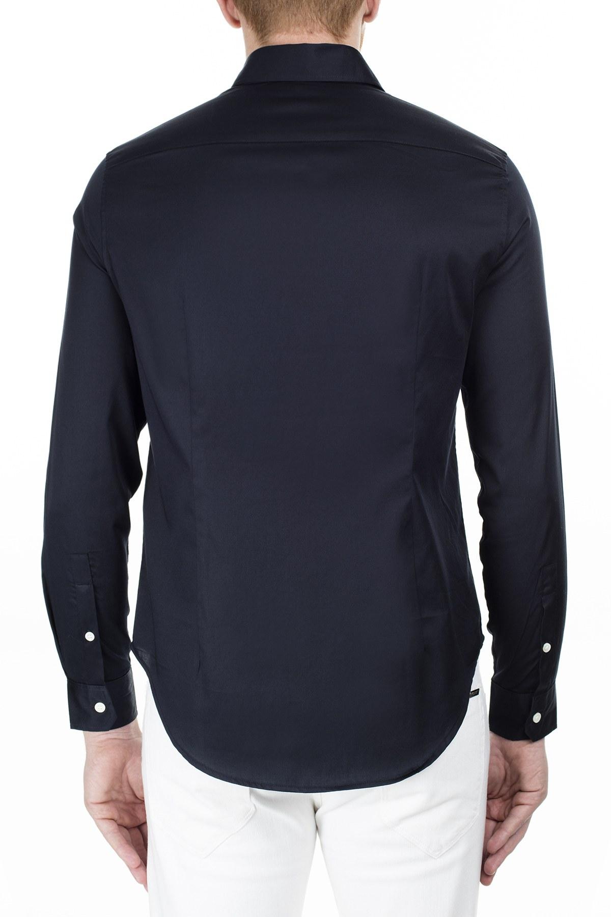 Emporio Armani Slim Fit Erkek Gömlek 3H1CN5 1NJJZ 0920 LACİVERT