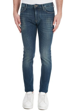 Emporio Armani - Emporio Armani Slim Fit Pamuklu J06 Jeans Erkek Kot Pantolon 6H1J06 1DR6Z 0942 MAVİ (1)