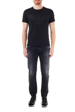 Emporio Armani - Emporio Armani Slim Fit Pamuklu J09 Jeans Erkek Kot Pantolon 6H1J09 1DL4Z 0006 SİYAH