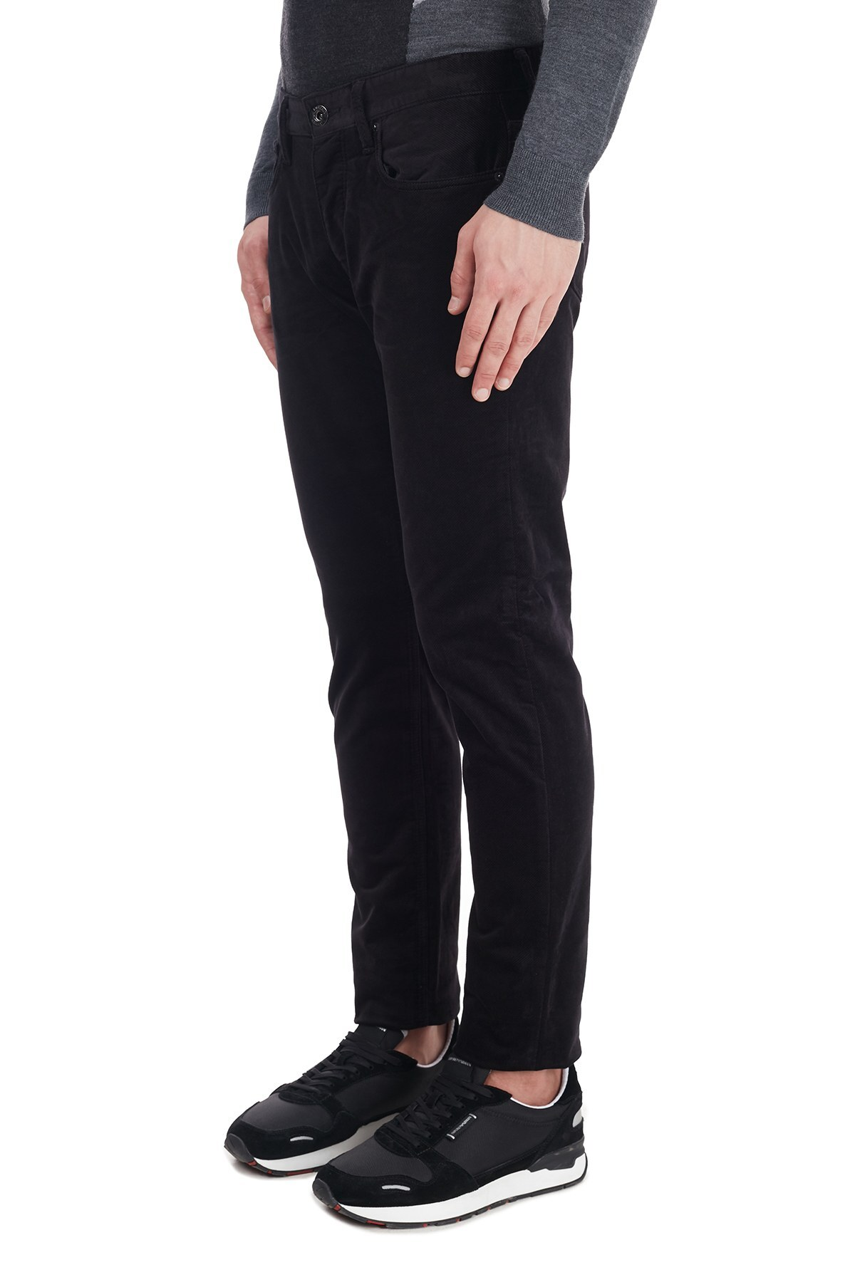 Emporio Armani Slim Fit Pamuklu J75 Jeans Erkek Kot Pantolon 6H1J75 1NRDZ 0920 LACİVERT