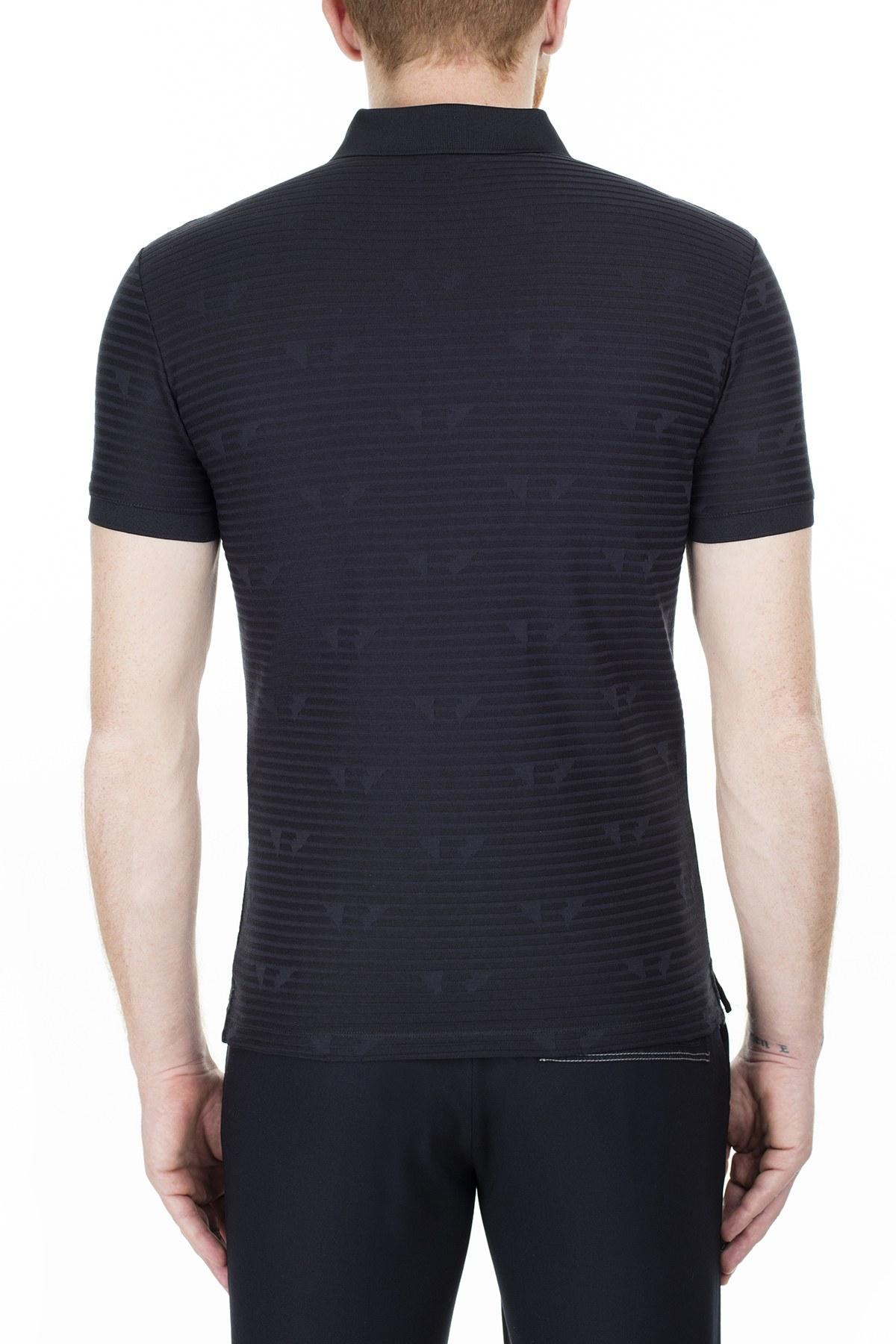 Emporio Armani Slim Fit T Shirt Erkek Polo 3H1F62 1JEPZ F910 LACİVERT