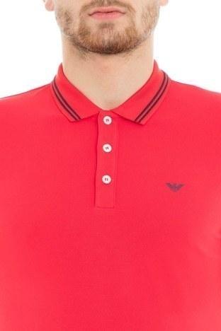 Emporio Armani Slim Fit T Shirt Erkek Polo 8N1F30 1JPTZ 0391 KIRMIZI