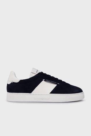 Emporio Armani - Emporio Armani Sneaker Erkek Ayakkabı S X4X541 XM692 K568 LACİVERT-BEYAZ