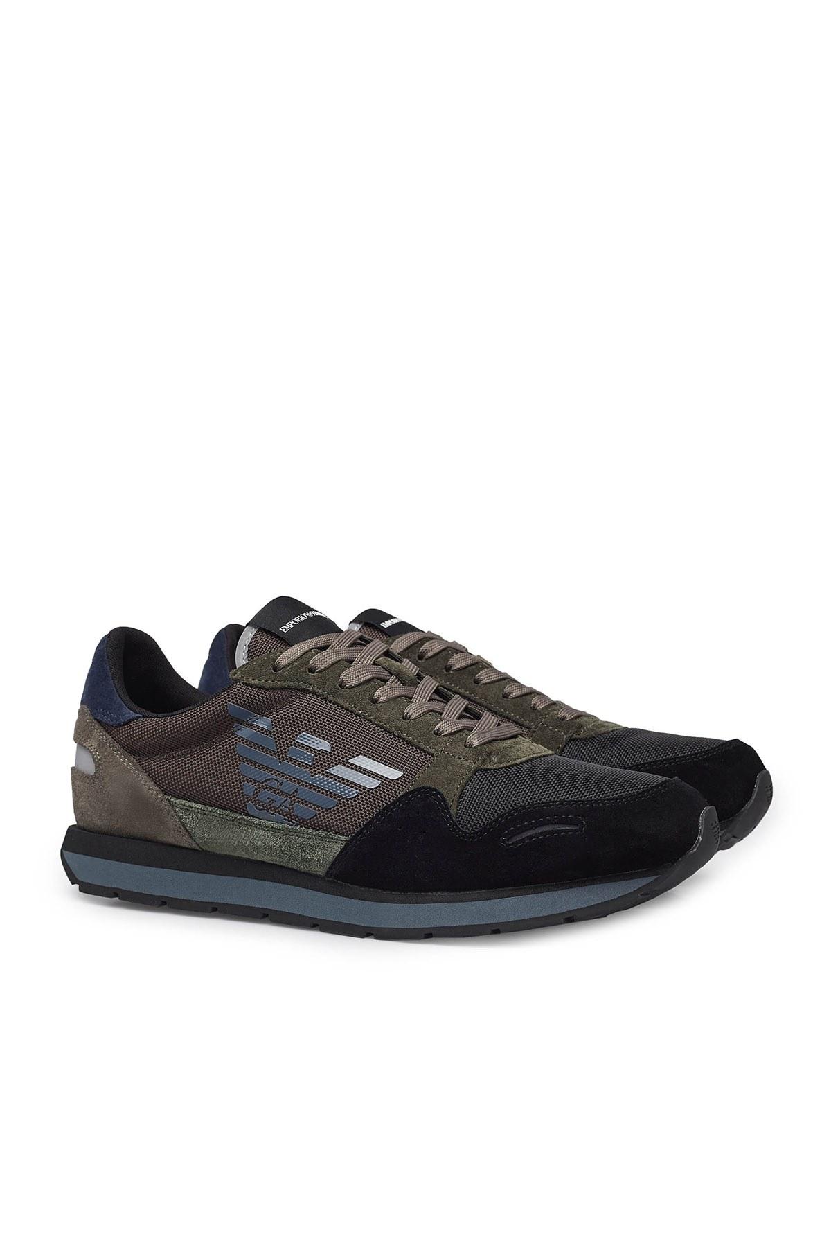 Emporio Armani Erkek Ayakkabı X4X215 XL200 N063 SİYAH-KAHVE