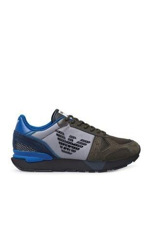 Emporio Armani - Emporio Armani Sneaker Erkek Ayakkabı X4X289 XM499 N017 KAHVE-MAVİ