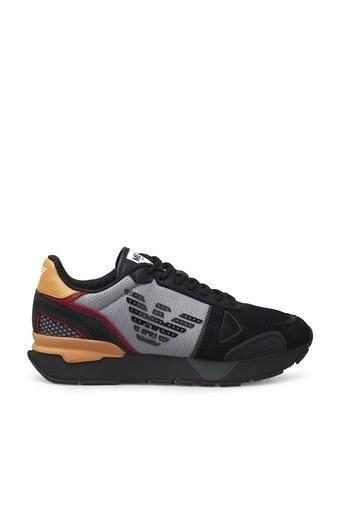 Emporio Armani Sneaker Erkek Ayakkabı X4X289 XM499 N018 SİYAH-SARI