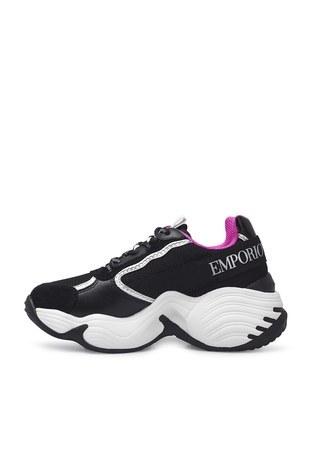 Emporio Armani - Emporio Armani Sneaker Bayan Ayakkabı S X3X088 XM059 N102 SİYAH (1)