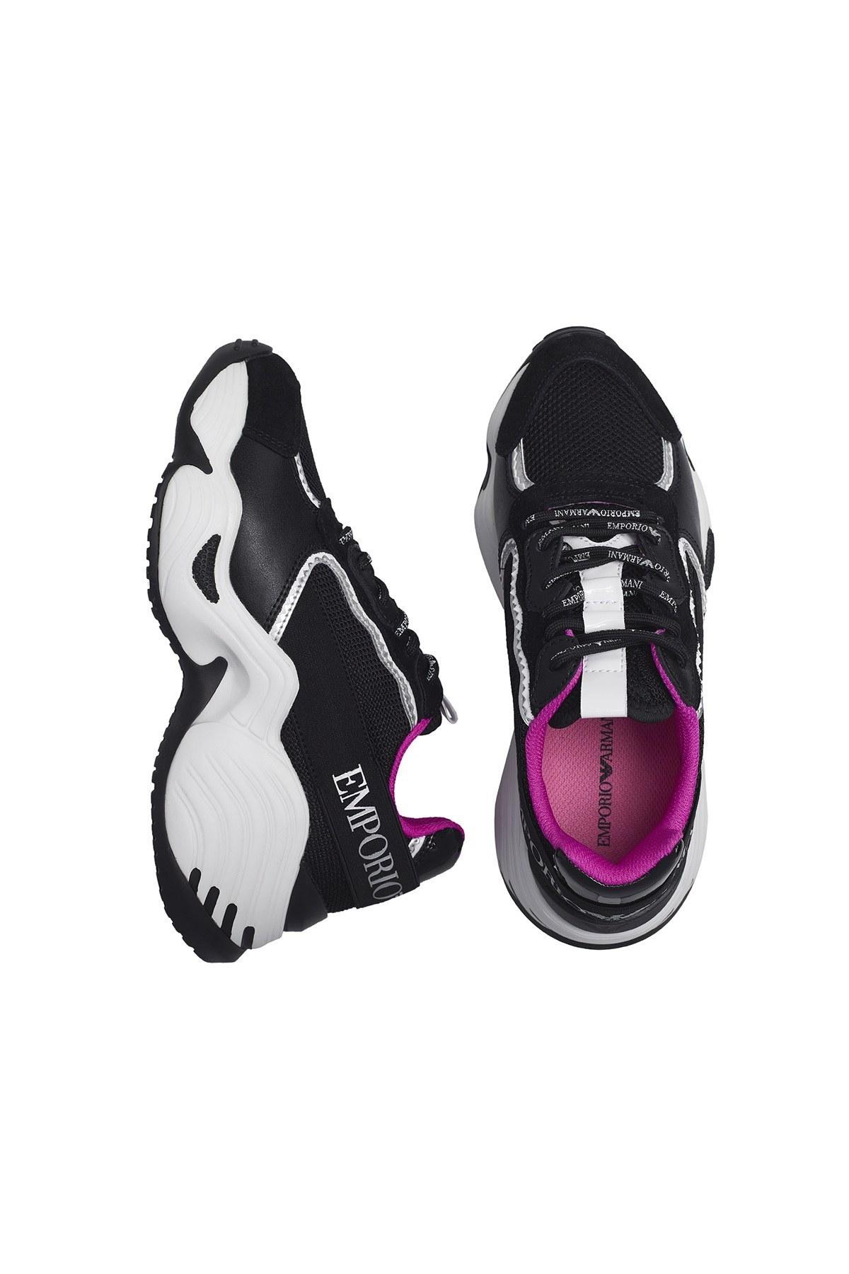 Emporio Armani Sneaker Kadın Ayakkabı X3X088 XM059 N102 SİYAH