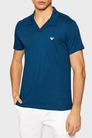 Emporio Armani - Emporio Armani Regular Fit % 100 Pamuk T Shirt Erkek Polo 211837 1P472 03083 PETROL