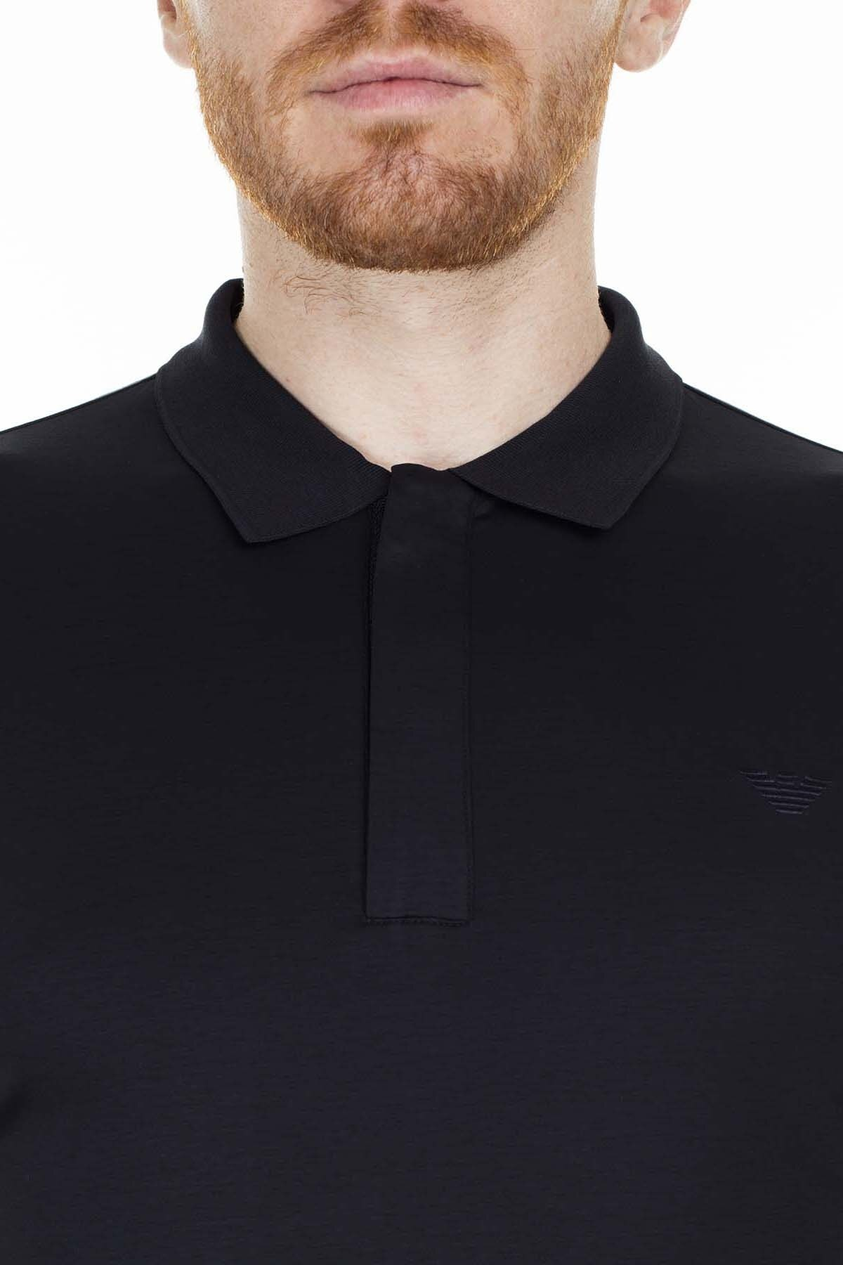 Emporio Armani T Shirt Erkek Polo 3H1F61 1JSTZ 0922 LACİVERT