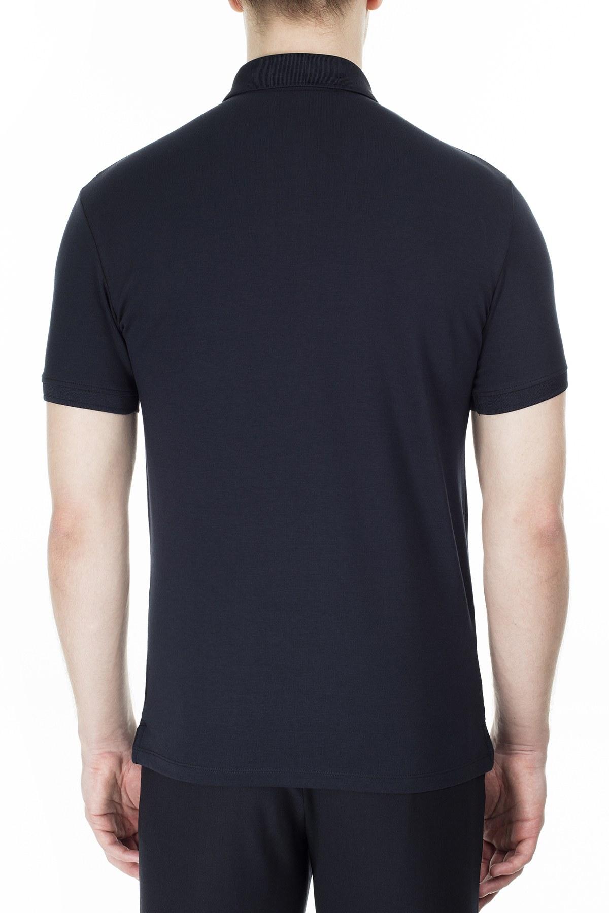 Emporio Armani T Shirt Erkek Polo 3H1F72 1J91Z 0922 LACİVERT