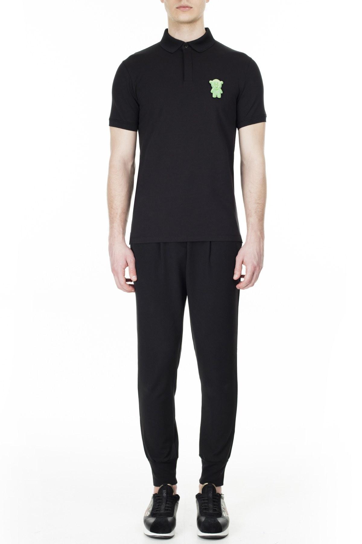 Emporio Armani T Shirt Erkek Polo 3H1F72 1J91Z 0999 SİYAH