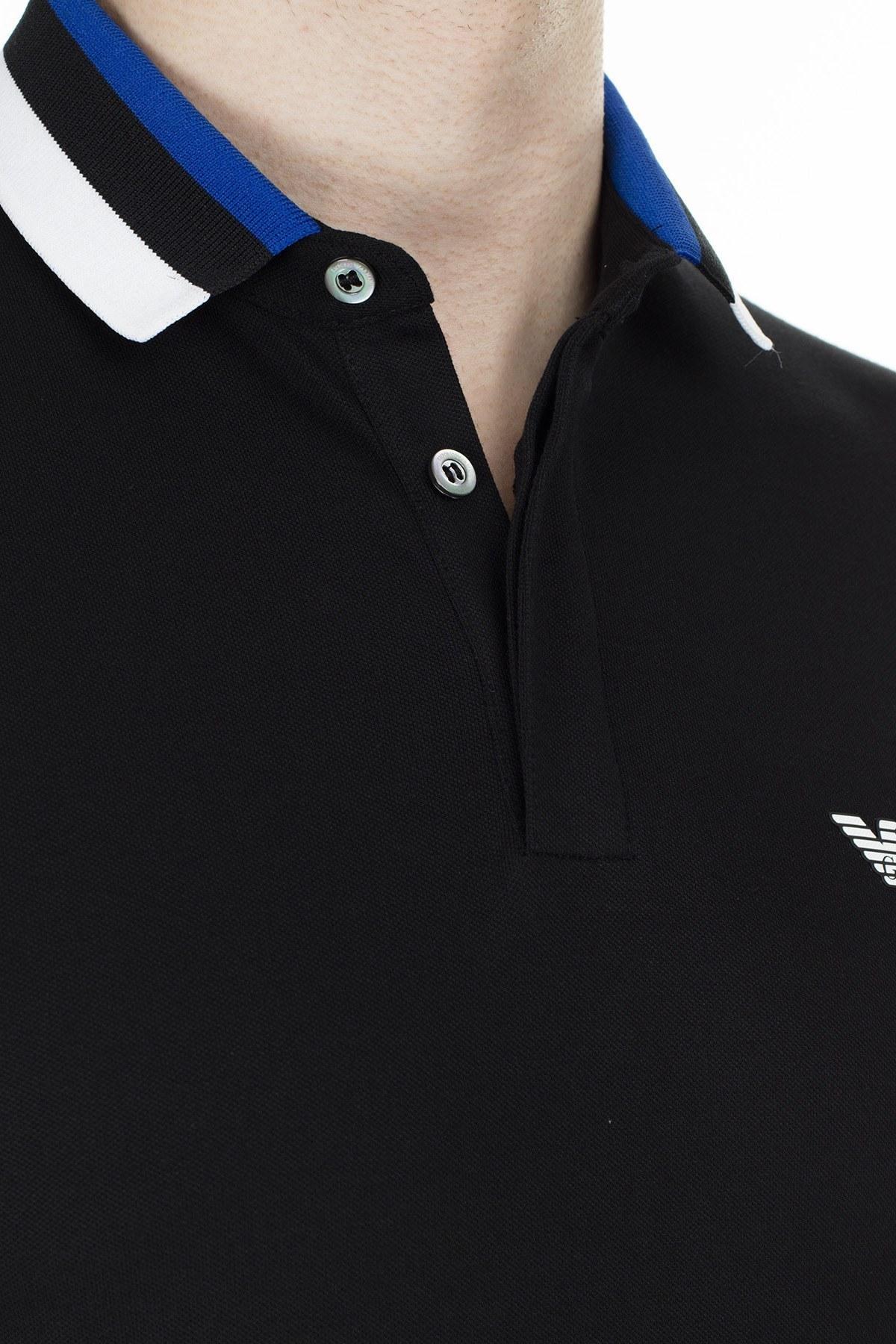 Emporio Armani T Shirt Erkek Polo 3H1F84 1J46Z 0002 SİYAH
