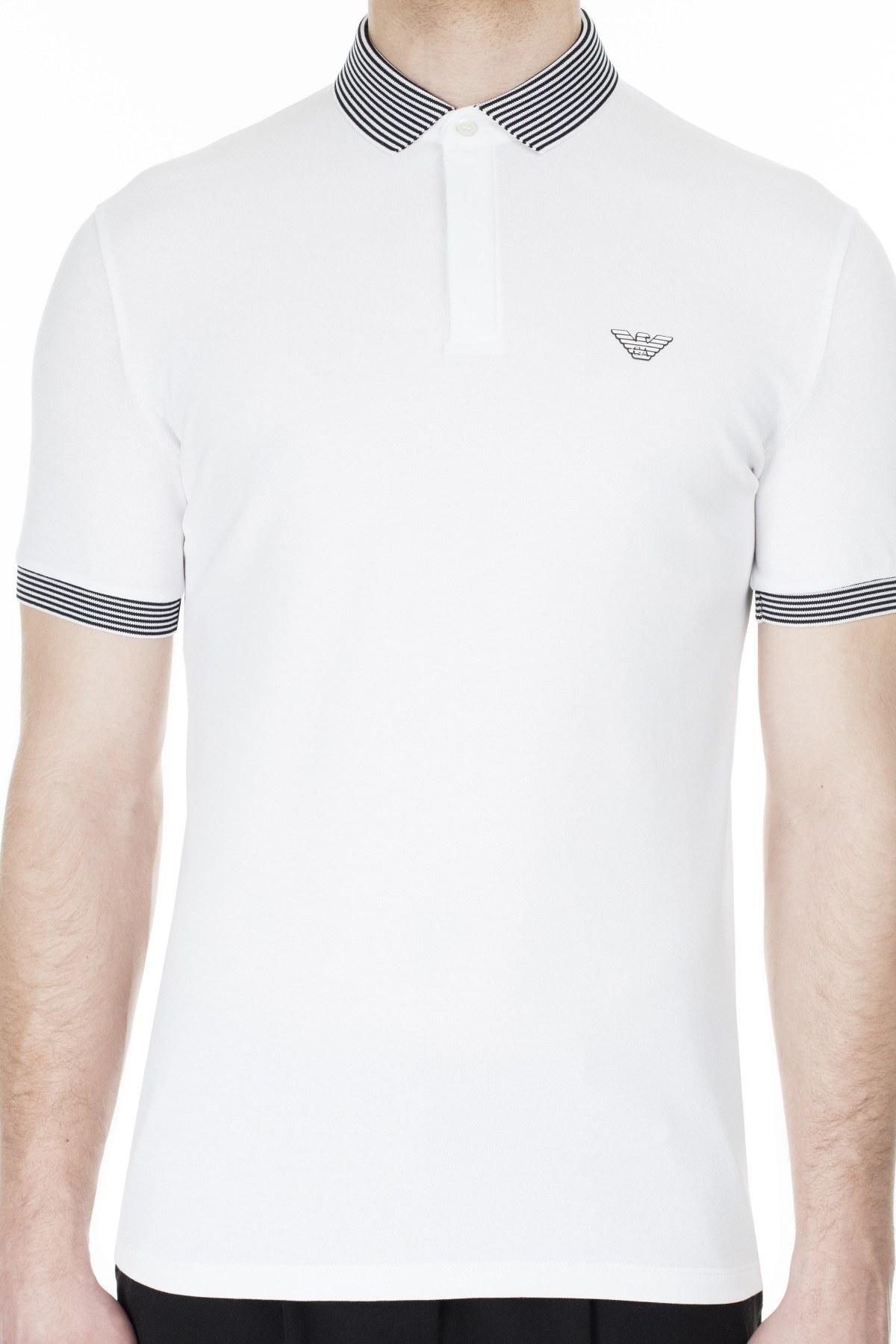 Emporio Armani T Shirt Erkek Polo 3H1F84 1J46Z 0104 BEYAZ