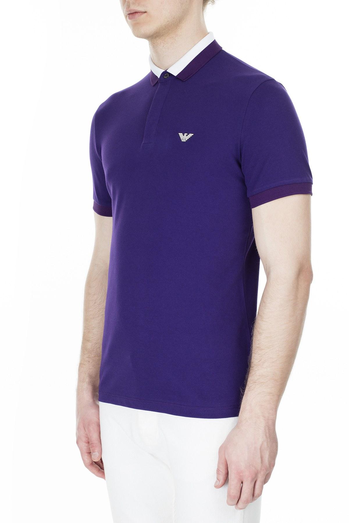 Emporio Armani T Shirt Erkek Polo 3H1F84 1J46Z 0832 MOR