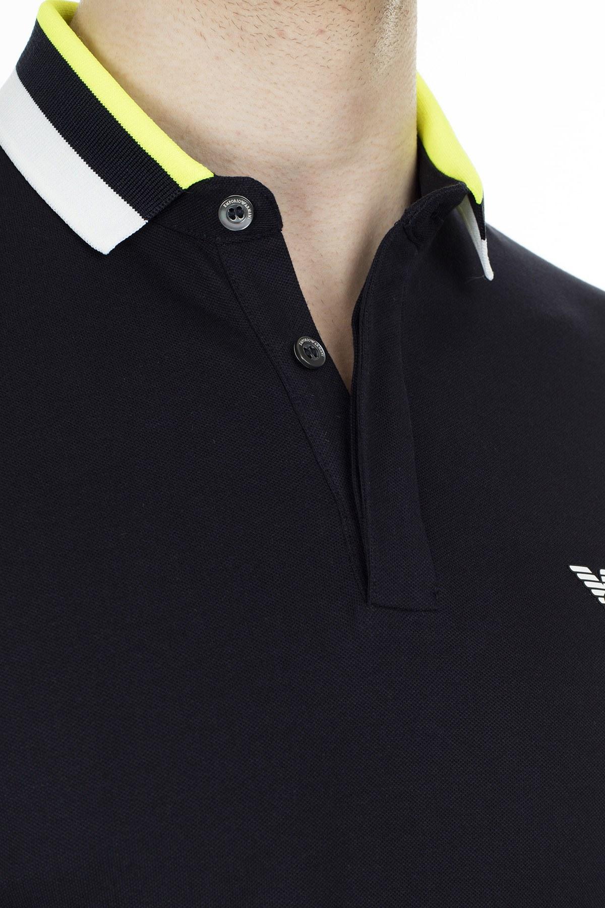 Emporio Armani T Shirt Erkek Polo 3H1F84 1J46Z 0924 LACİVERT