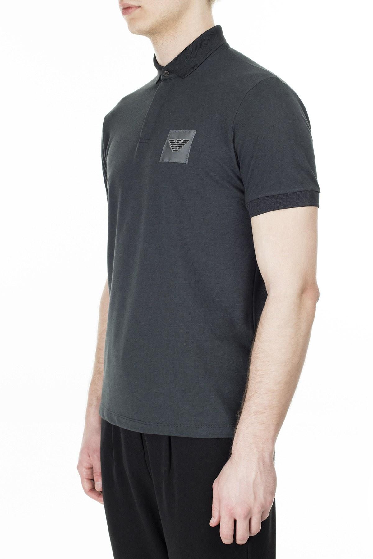 Emporio Armani T Shirt Erkek Polo 3H1F85 1J80Z 0651 SİYAH