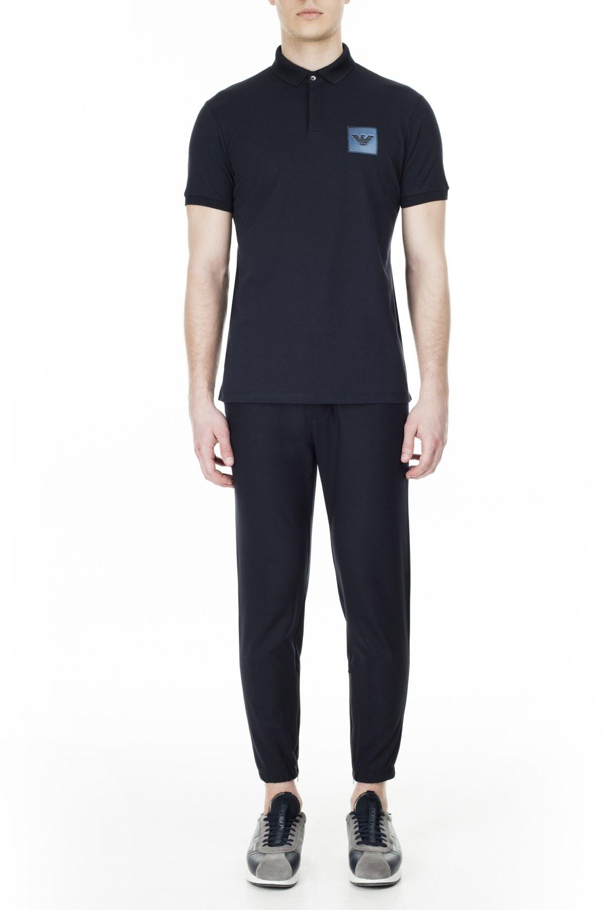 Emporio Armani T Shirt Erkek Polo 3H1F85 1J80Z 0922 LACİVERT
