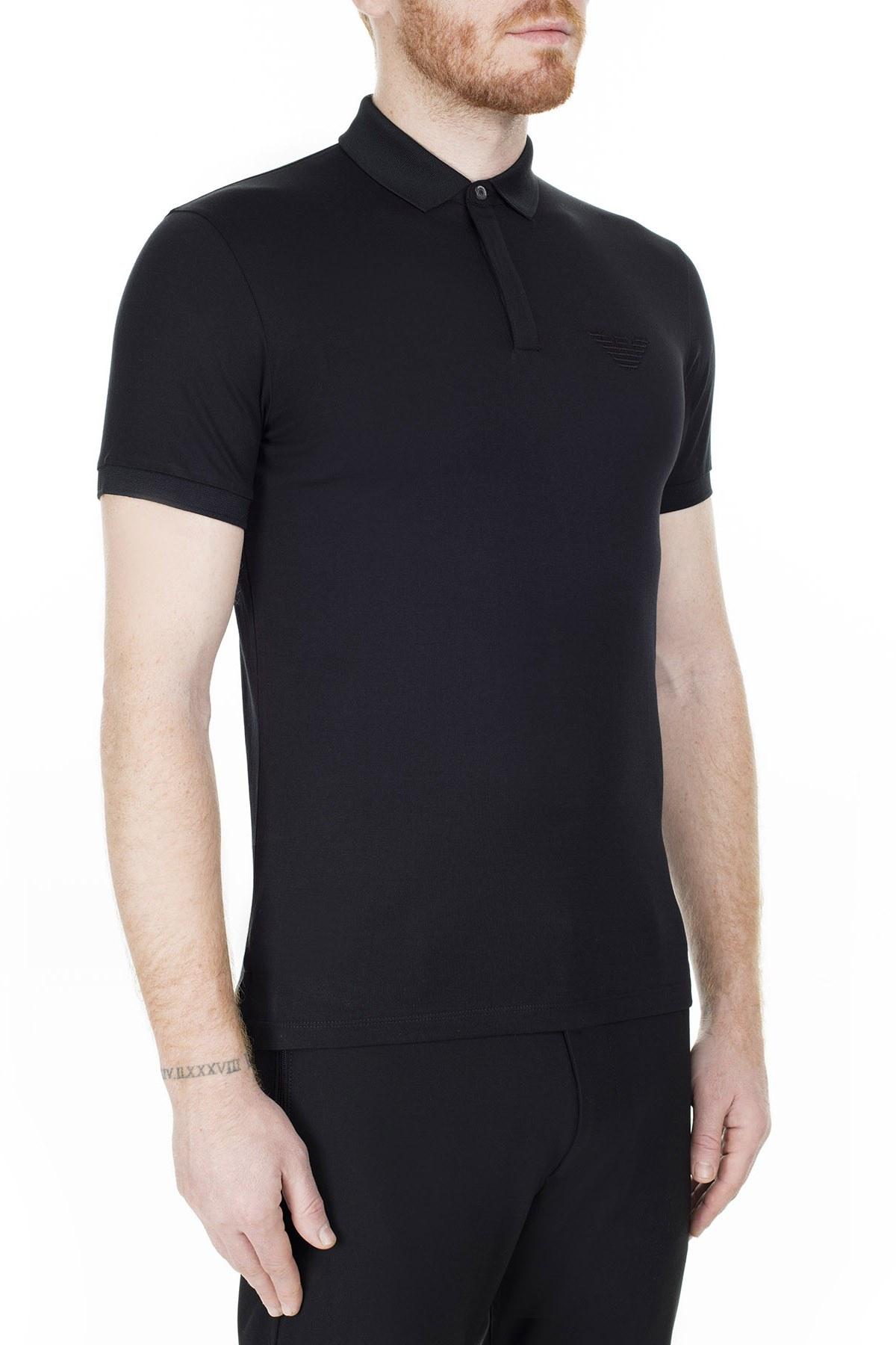 Emporio Armani T Shirt Erkek Polo 3H1F89 1J30Z 0999 SİYAH