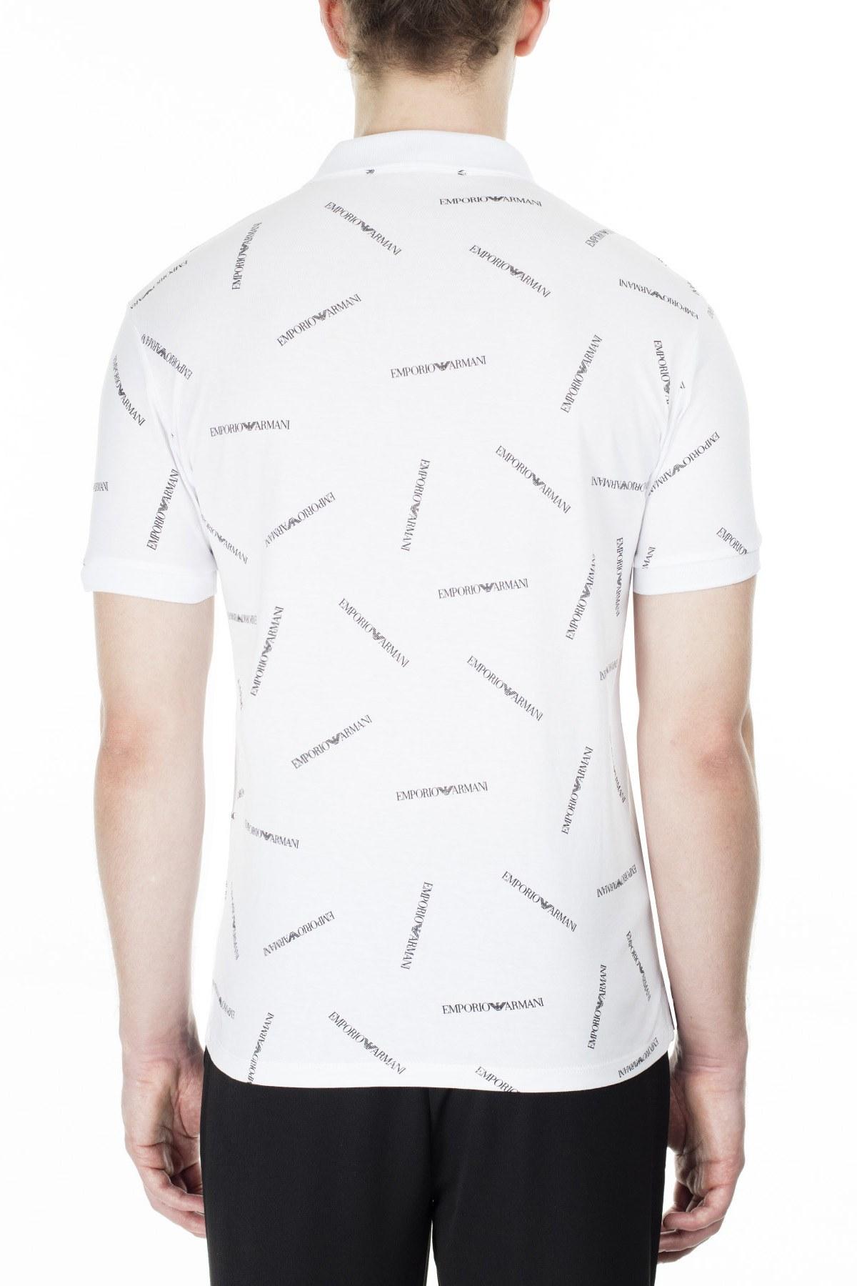 Emporio Armani T Shirt Erkek Polo 3H1F91 1J30Z F112 BEYAZ-SİYAH