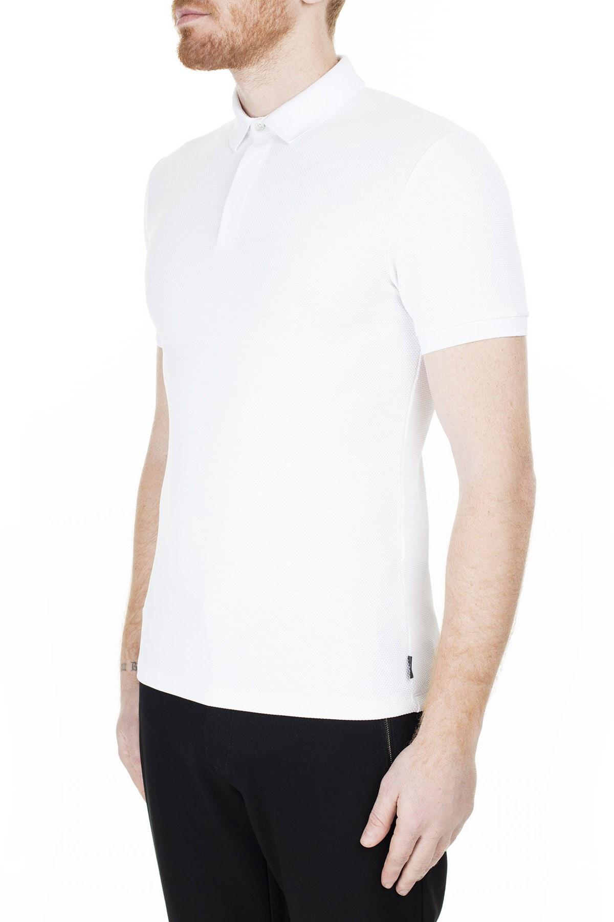 Emporio Armani T Shirt Erkek Polo 3H1F94 1JPDZ 0100 BEYAZ