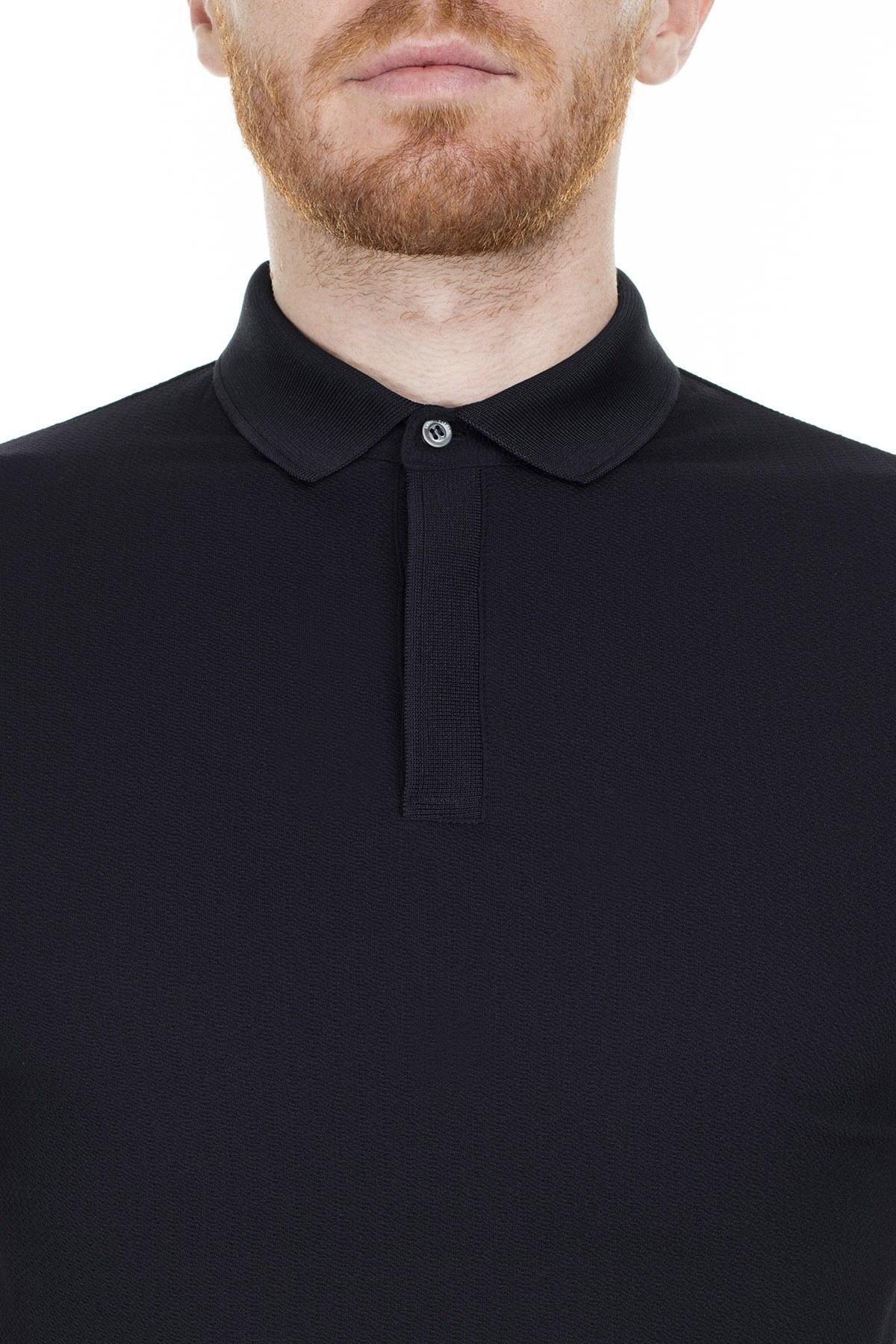 Emporio Armani T Shirt Erkek Polo 3H1F94 1JPDZ 0922 LACİVERT