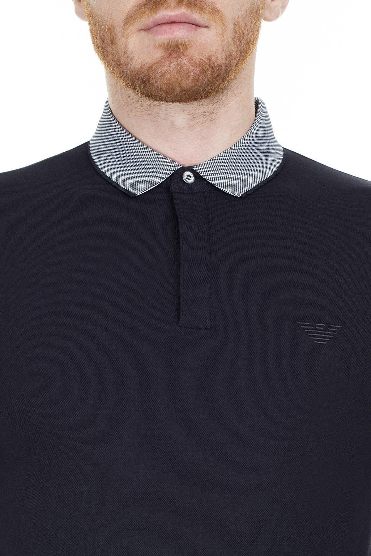 Emporio Armani T Shirt Erkek Polo 3H1F95 1J46Z 0922 LACİVERT