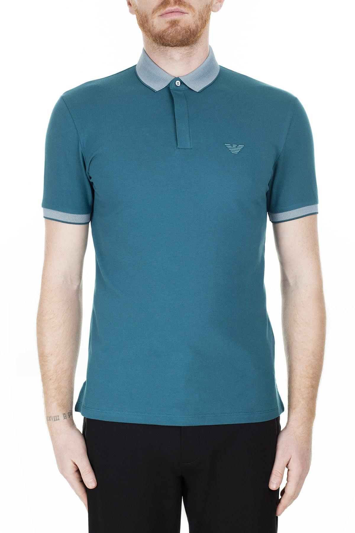 Emporio Armani T Shirt Erkek Polo 3H1F95 1J46Z 0955 PETROL