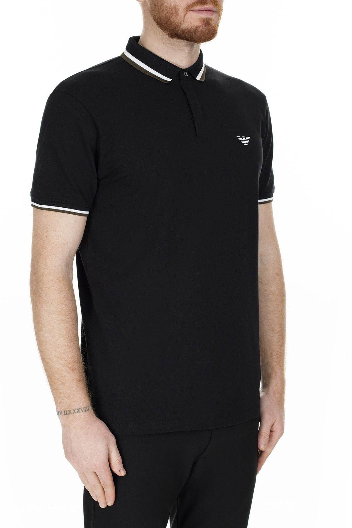 Emporio Armani T Shirt Erkek Polo 6G1FA5 1J46Z 0999 SİYAH