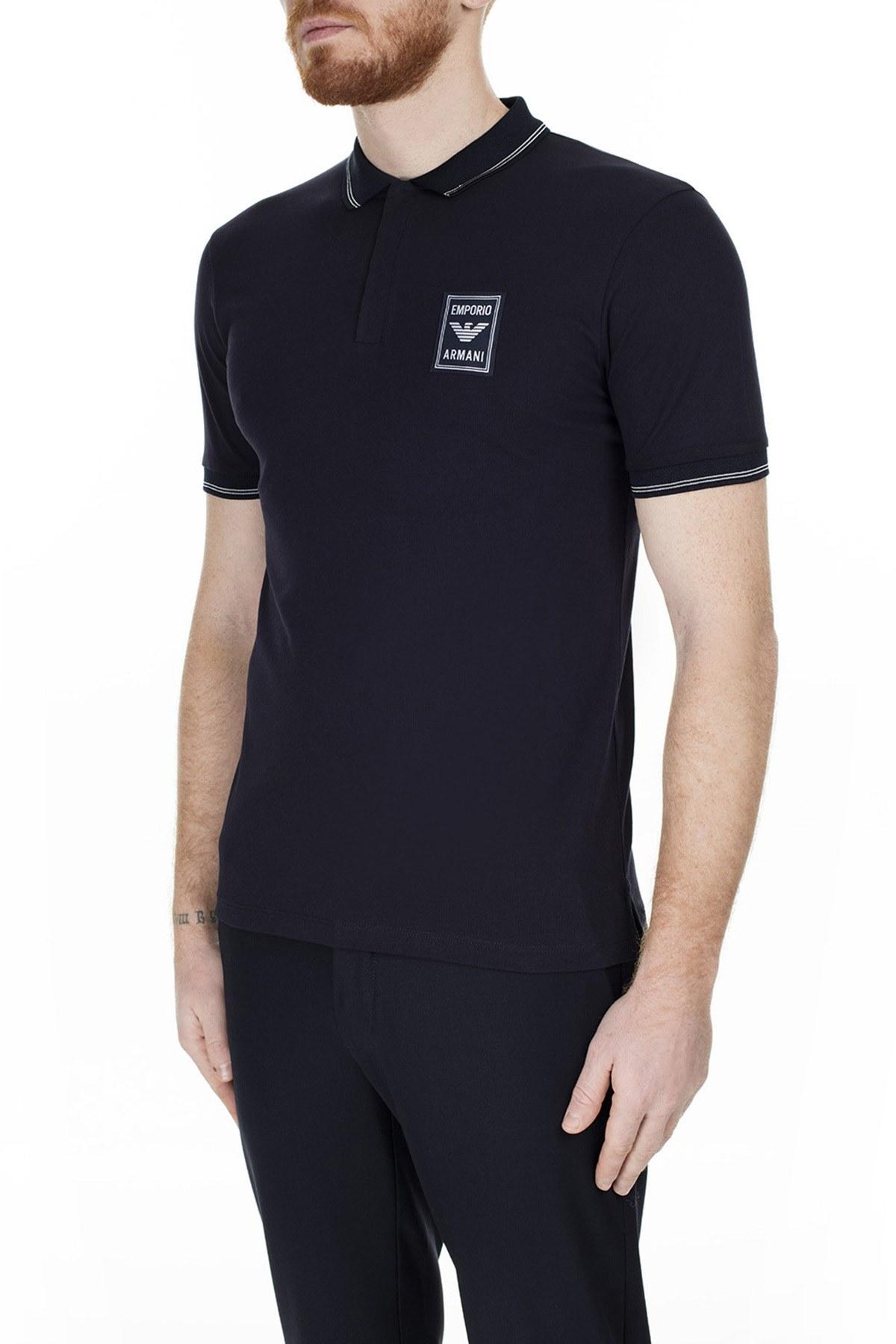 Emporio Armani T Shirt Erkek Polo 6G1FG0 1J46Z 0922 LACİVERT
