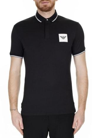 Emporio Armani - Emporio Armani T Shirt Erkek Polo 6G1FG1 1J84Z 0999 SİYAH