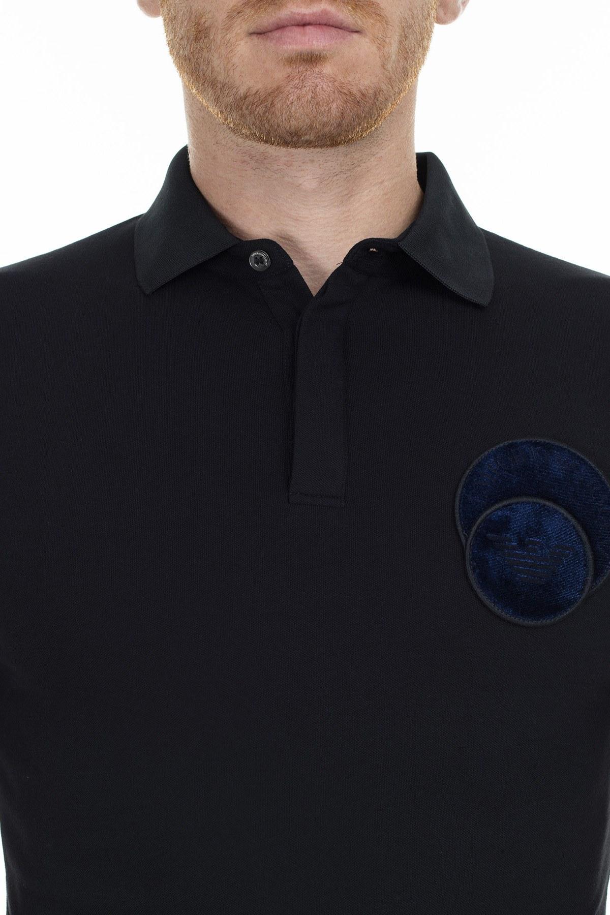 Emporio Armani T Shirt Erkek Polo 6G1FG2 1JPTZ 0932 LACİVERT