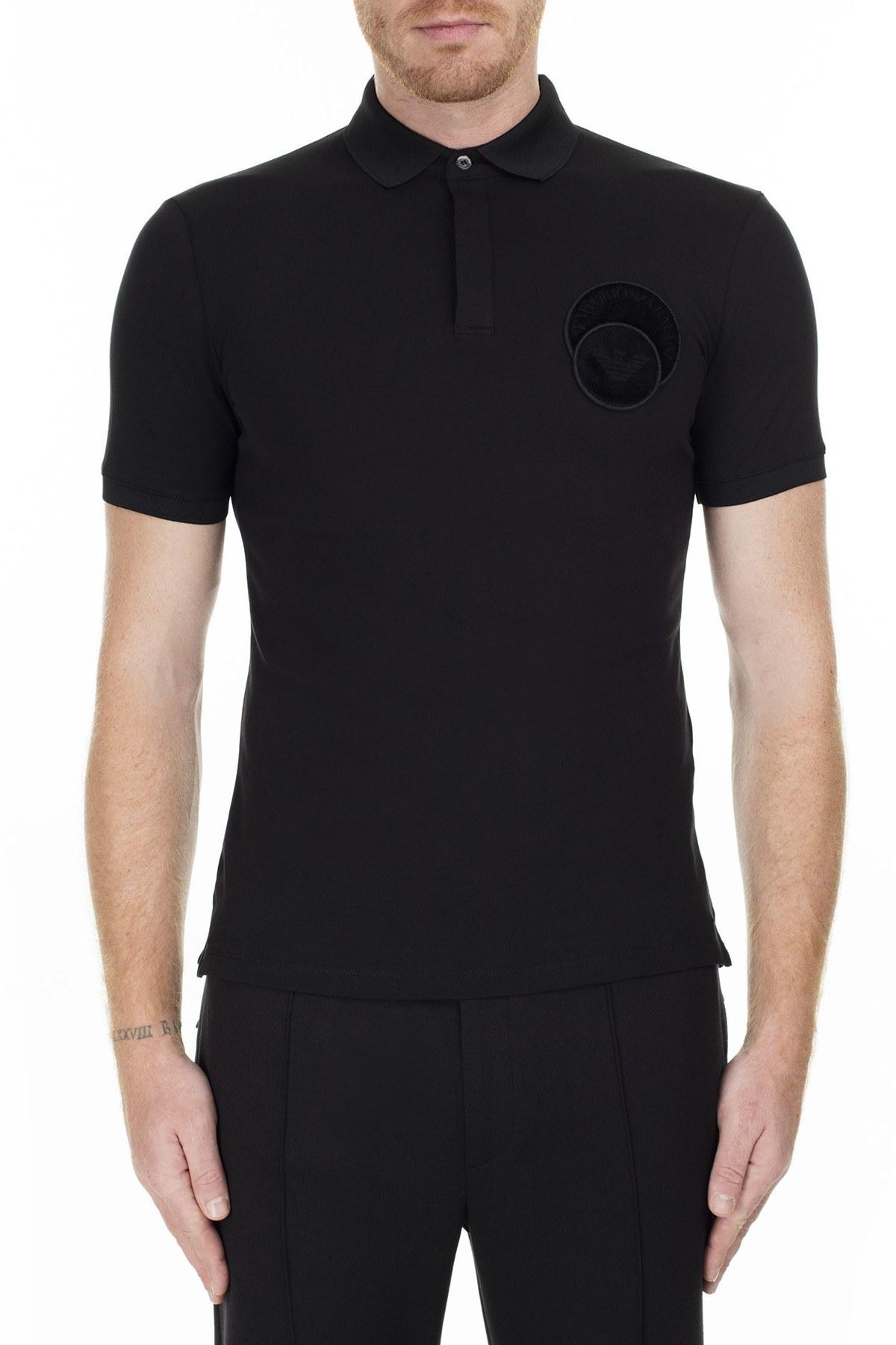 Emporio Armani T Shirt Erkek Polo 6G1FG2 1JPTZ 0999 SİYAH