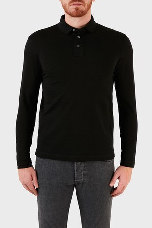 Emporio Armani - Emporio Armani T Shirt Erkek Polo 6K1F75 1JGYZ 0061 SÄ°YAH