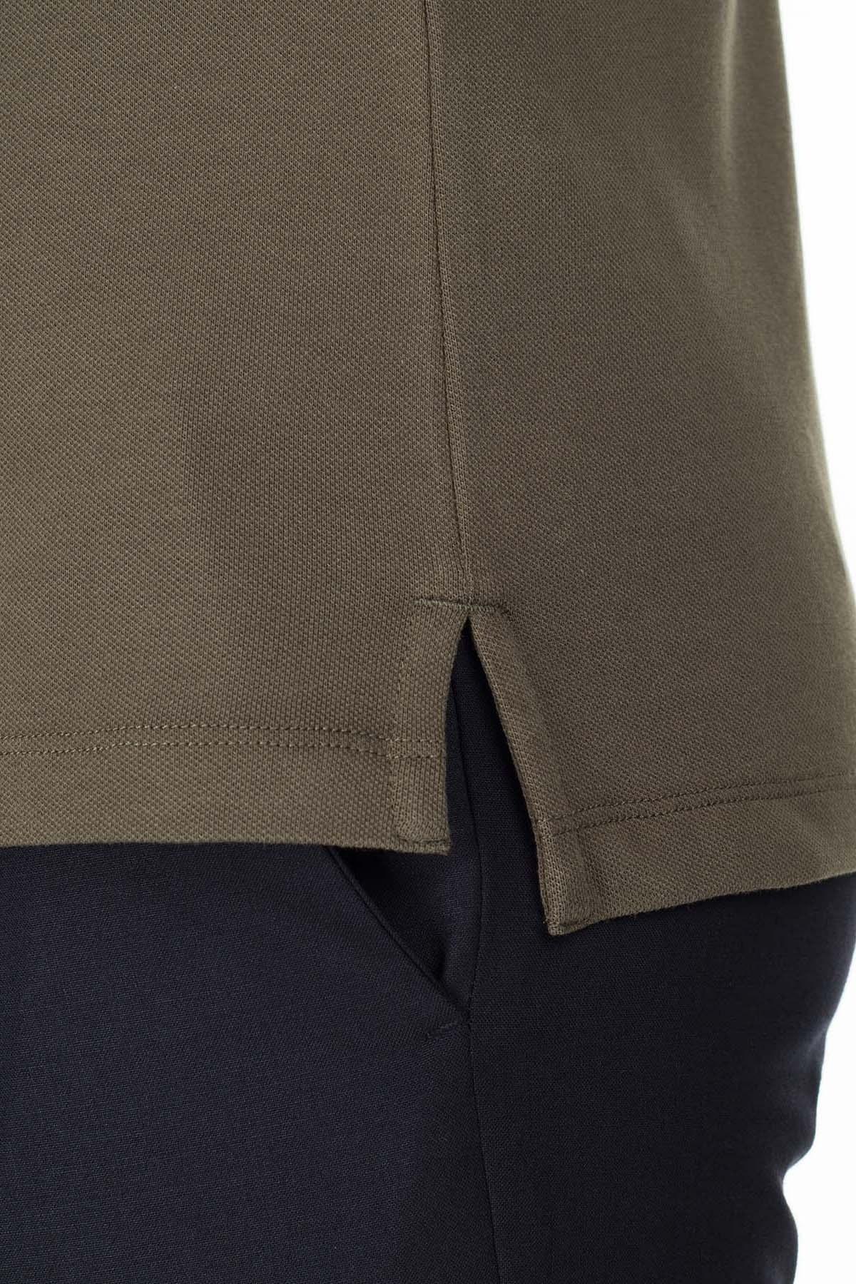 Emporio Armani T Shirt Erkek Polo 8N1F30 1JPTZ 0582 HAKI KAMUFLAJ