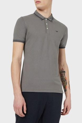 Emporio Armani - Emporio Armani T Shirt Erkek Polo 8N1F30 1JPTZ 0635 GRİ