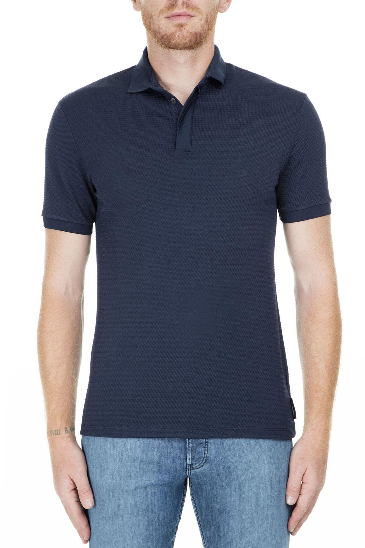 Emporio Armani T Shirt Erkek Polo S 3G1F72 1J57Z 0922 LACİVERT