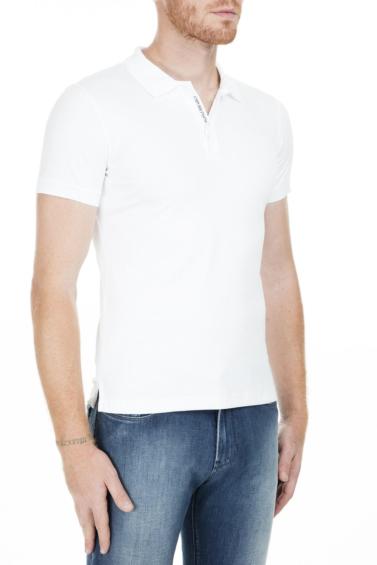 Emporio Armani T Shirt Erkek Polo S 3G1F86 1JPRZ 0100 BEYAZ