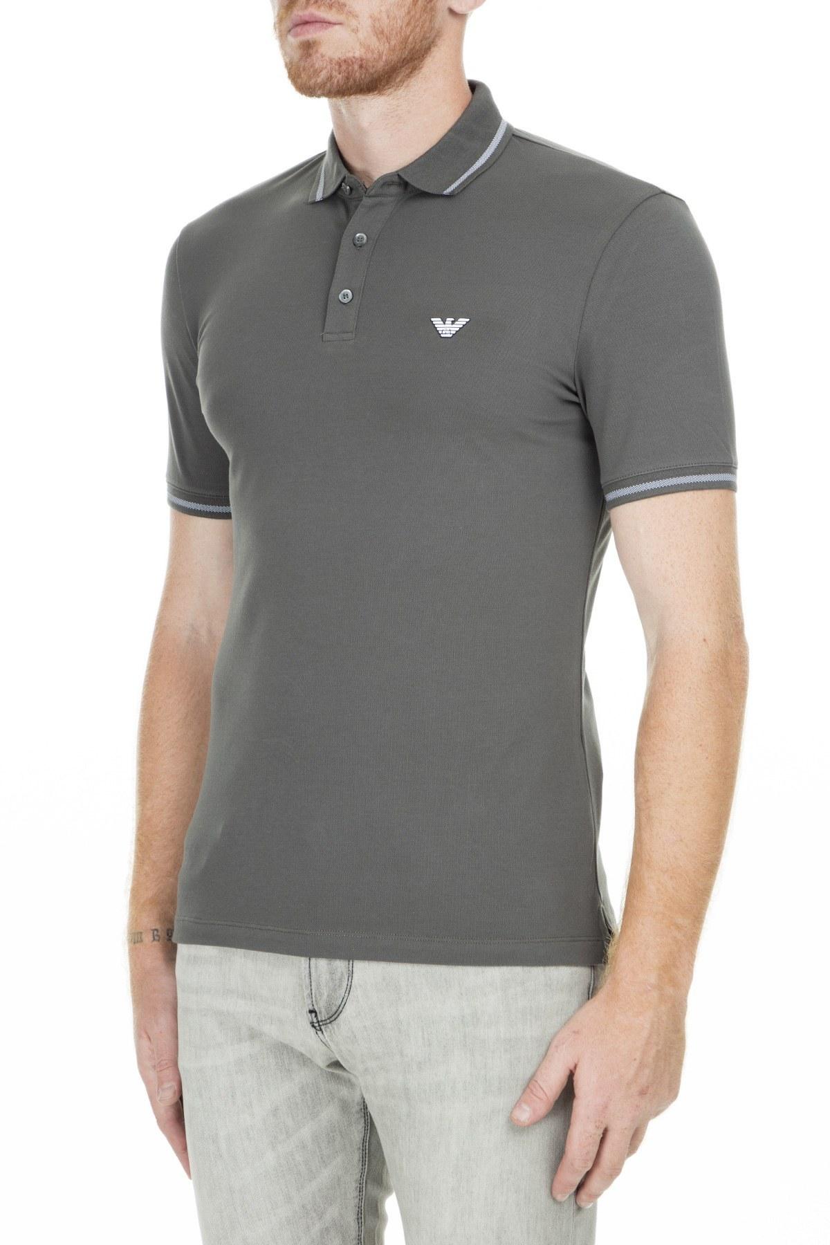 Emporio Armani T Shirt Erkek Polo S 3G1F93 1JPTZ 0641 GRİ