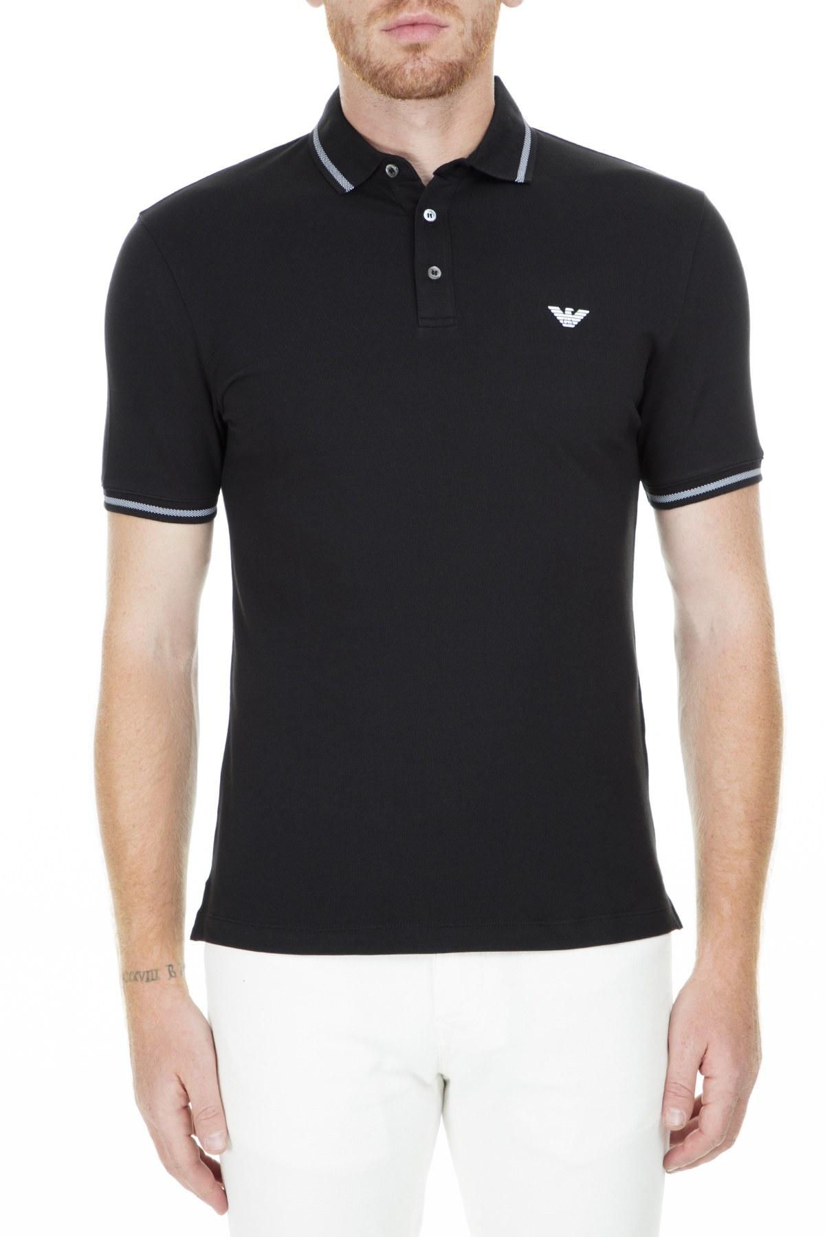 Emporio Armani T Shirt Erkek Polo S 3G1F93 1JPTZ 0999 SİYAH