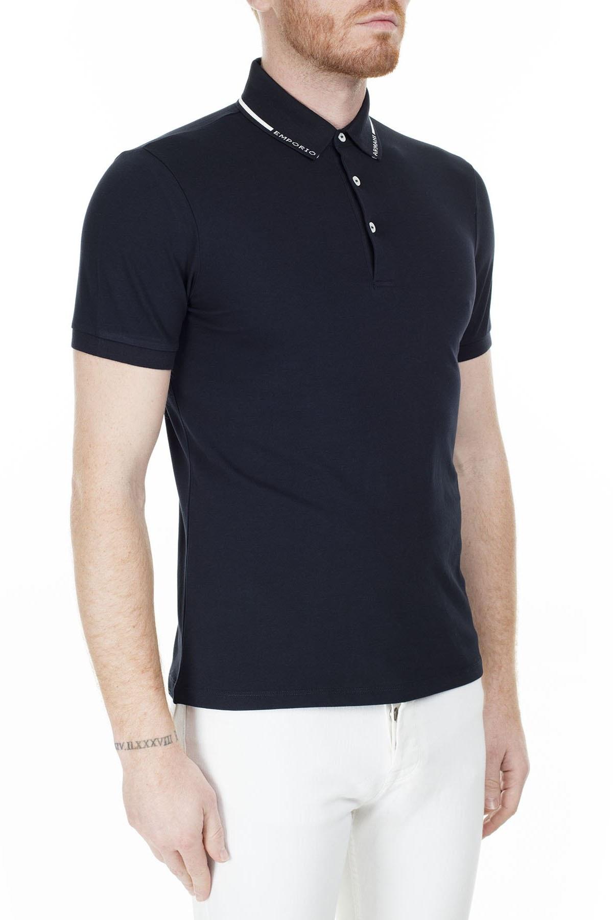 Emporio Armani T Shirt Erkek Polo S 6G1FP4 1JPTZ F981 LACİVERT